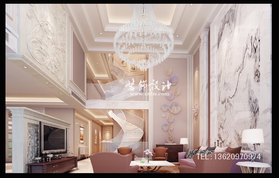 凯旋湾独栋别墅装修--欧式风格设计