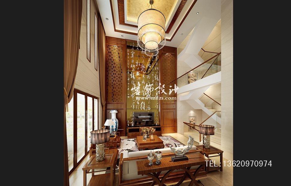 中海大山地别墅装修--新中式设计