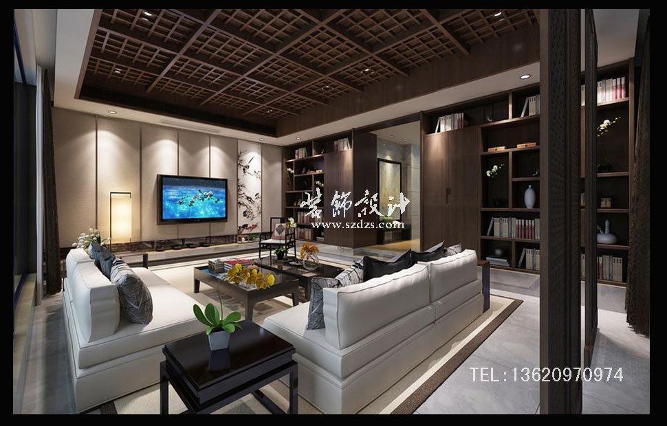 萬科東海岸別墅裝修--新中式風格設計
