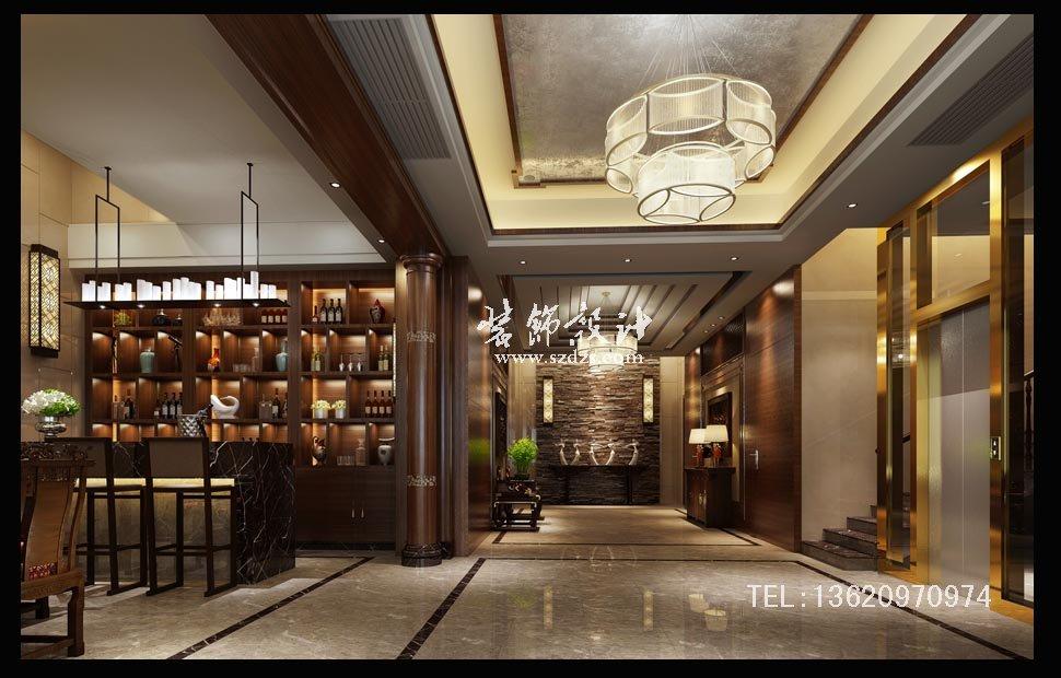 萬科璞悅山別墅裝修--新中式設計