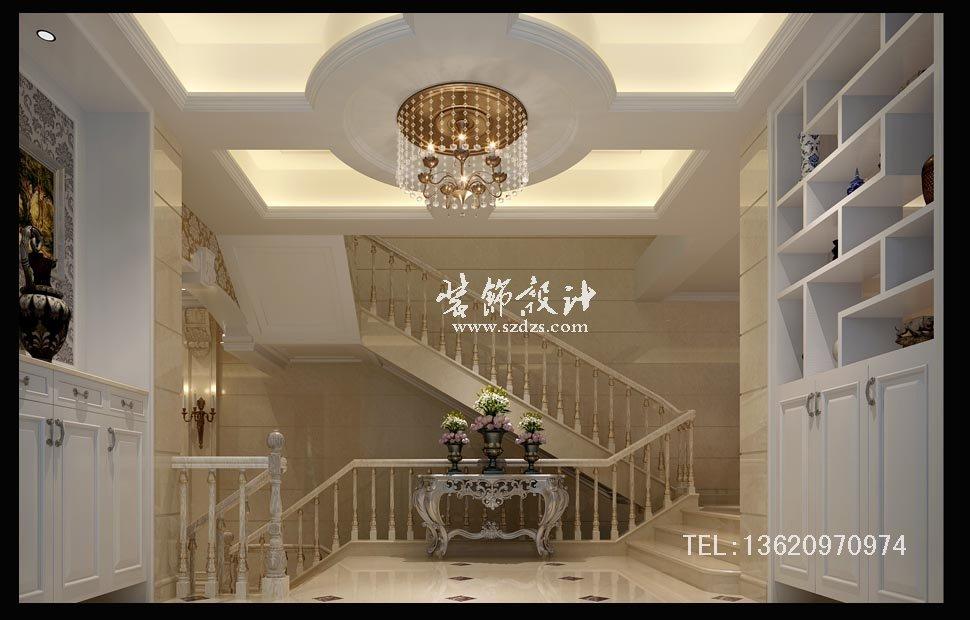 振業城二期端頭別墅裝修--歐式風格設計