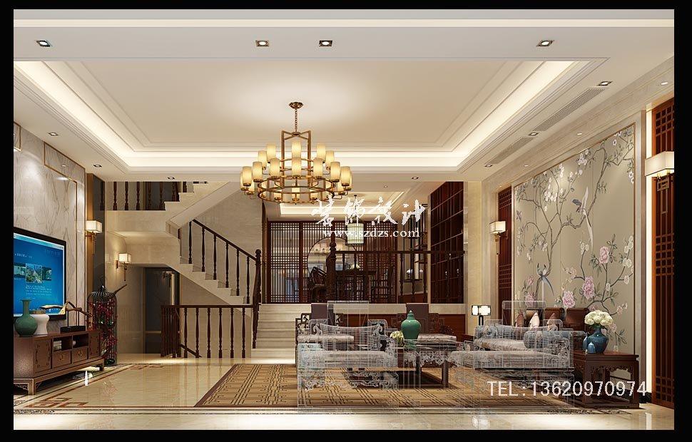 大山地別墅裝修--新中式風格設計