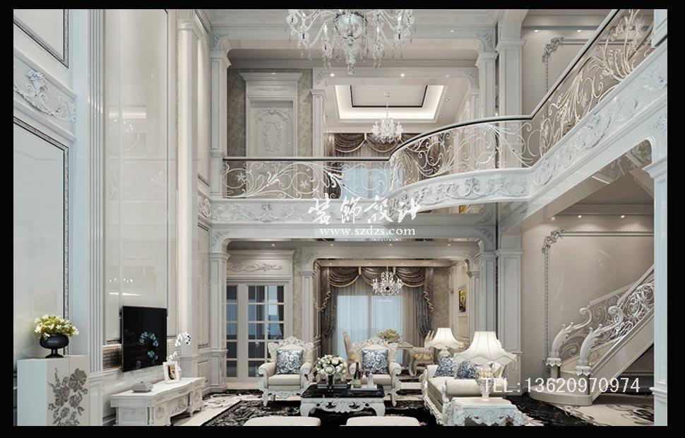 润恒御园别墅装修--欧式风格设计
