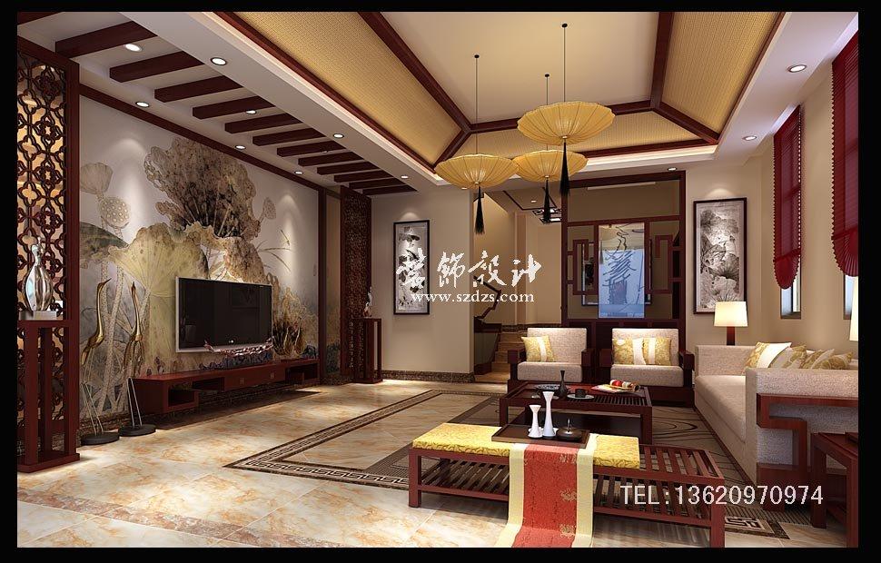 惠阳半岛1号别墅装修--新中式设计