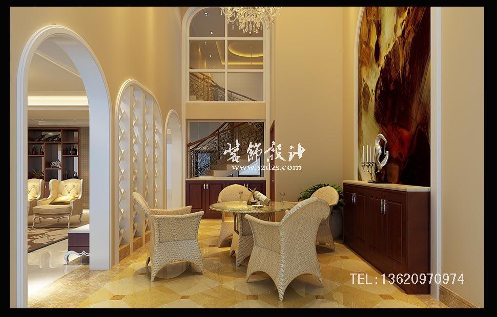 惠阳半岛1号别墅装修--新古典设计