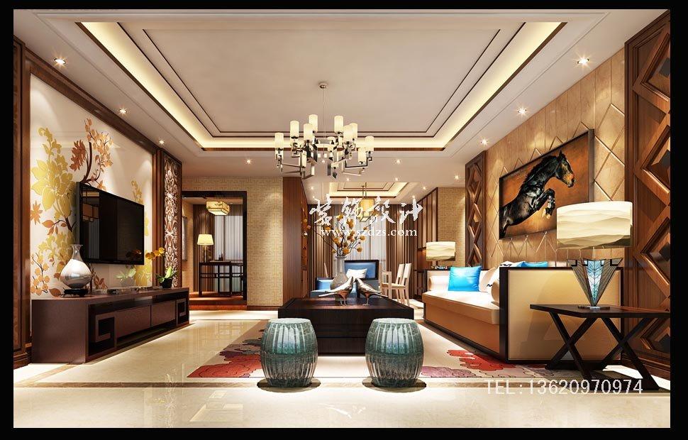 深圳湾公馆装修--新中式设计