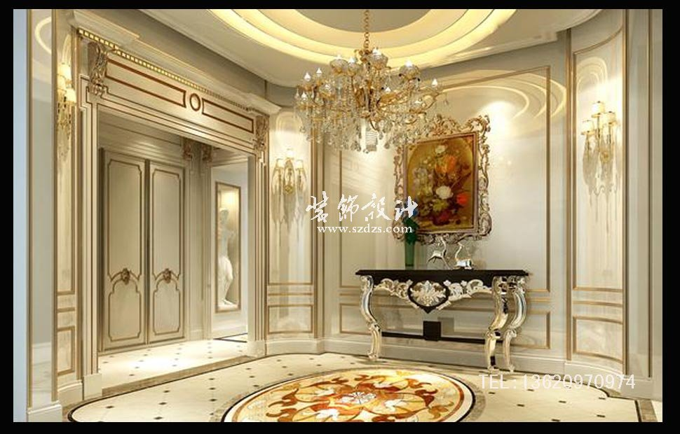 京基天涛轩别墅装修--法式风格设计